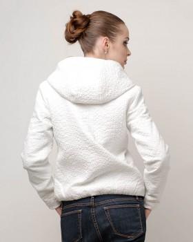 Куртка ветровка женская белого цвета