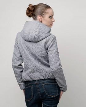 Куртка жатая женская с капюшоном