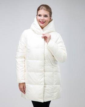 Белая зимняя куртка женская на тинсулейте
