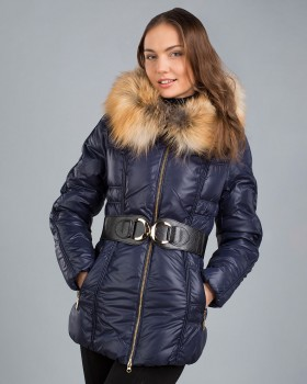 Куртка пуховик синего цвета